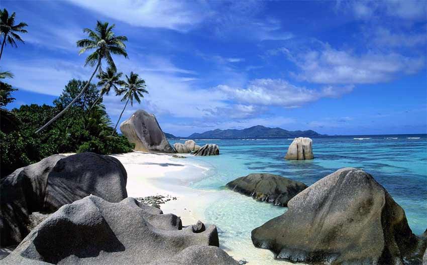 La vera spiaggia tropicale è alle Seychelles