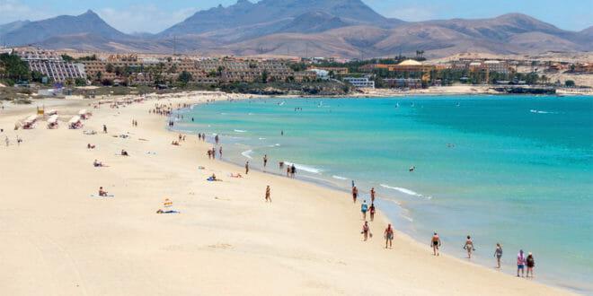 Fuerteventura, la spiaggia in estate