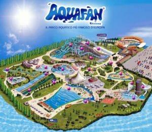 Aquafan Riccione: la cartina del parco