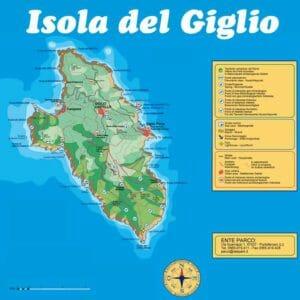 Isola del Giglio: mappa