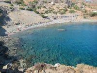 La cala di Agios Pavlos vista dalla scogliera