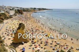 Albufeira, spiagge del Portogallo