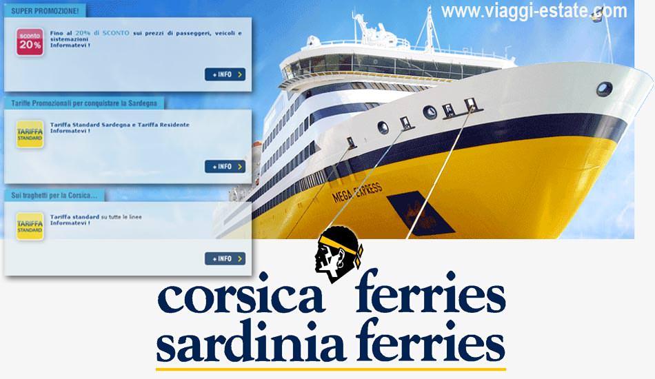 Sardinia Ferries e Corsica Ferries propongono poche offerte, i traghetti sono ancora molto cari!