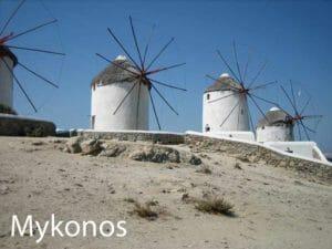 Grecia, Mykonos, i mulini