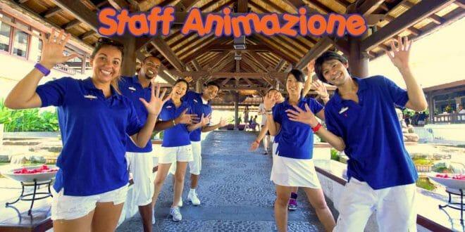 Lo staff di animatori di un Villaggio turistico