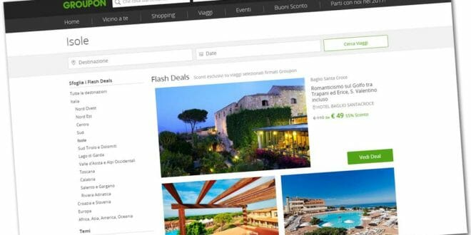 Groupon: le offerte dell'estate