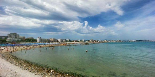 Cattolica, la spiaggia in estate