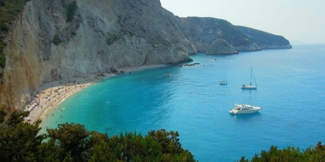 Isola di Lefkada, la spiaggia di Katsiki
