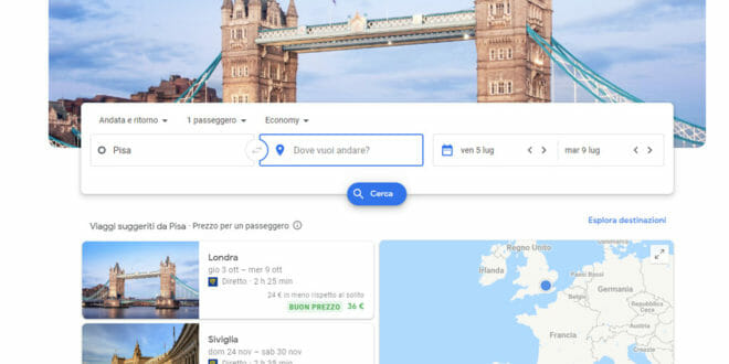 Google Flight, come funziona