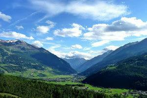 Montagna in Lombardia in estate