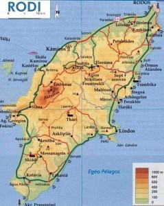 La mappa di Rodi